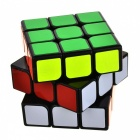 High-Quality Patented 3 x 3 x 3 Rubik's Cube - Black + Multi-Colored