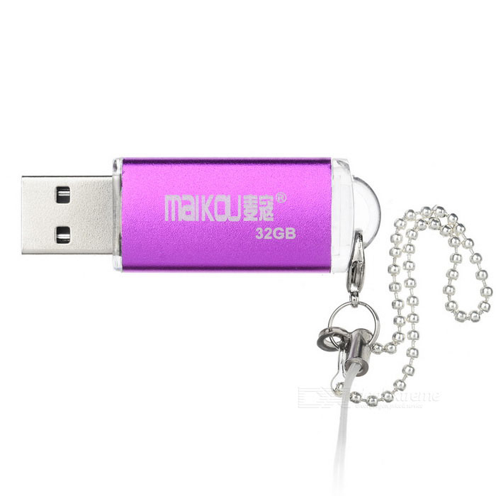 MAIKOU 32GB USB 2.0 Flash-asema - violetti + hopea