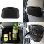 ZIQIAO Car Multi-Functional Travel Dining Tray Beverage Holder - Black