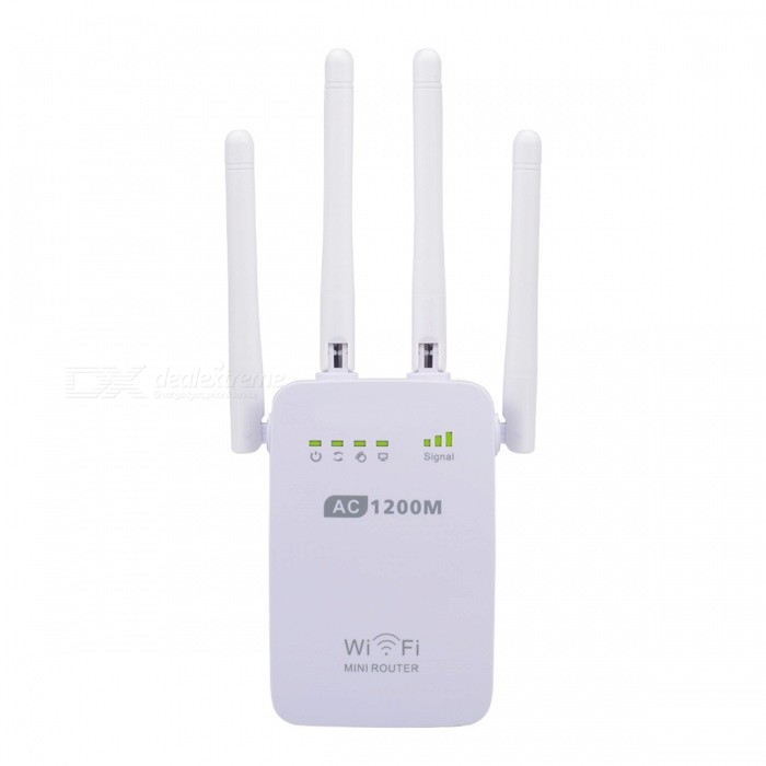 2.4GHz & 5GHz  Wi-Fi 1200Mbps AP Repeater Router - White  (US Plugs)
