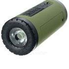 PINDO PD P-X6 Bike Bluetooth Speaker & Power Bank - Army Green + Black
