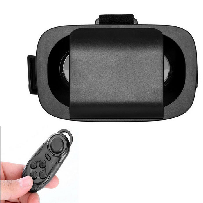 VR Virtual Reality 3D Brille + Bluetooth Controller - schwarz
