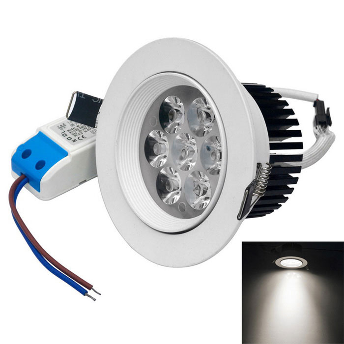 Jiawen 7W Dimmable Cold White LED Ceiling Light - White (AC 85~265V)