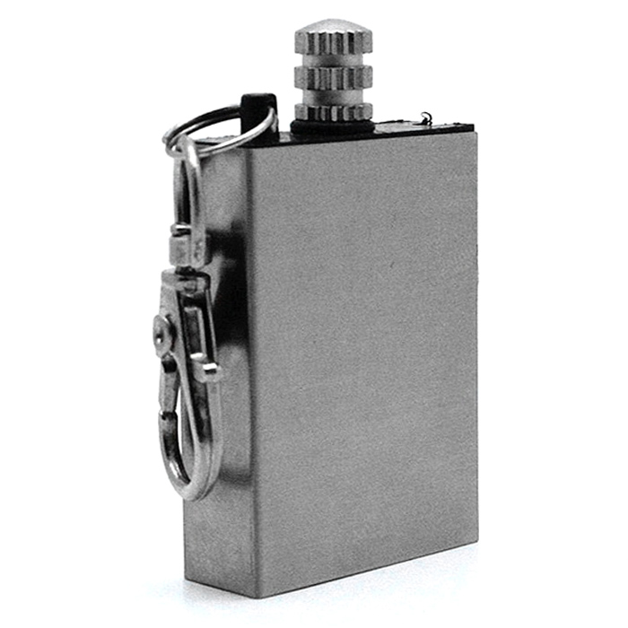 Metal Match Permanent Fire Starter Oil Lighter - Silver