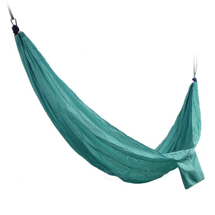 Sunfield Nylon Solid Color Swing Hammock for Two Person - Dark GreenSleeping Bags<br>Form  ColorBlack GreenQuantity1 DX.PCM.Model.AttributeModel.UnitMaterialNylonBest UseFamily &amp; car camping,TravelWeight Limit200 DX.PCM.Model.AttributeModel.UnitLength285 DX.PCM.Model.AttributeModel.UnitSizeFree SizeTypeHammocksPacking List1 * Hammock2 * Ropes<br>
