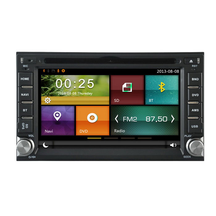 "Cartouch(R) CT-6100 6.2"" 2 Din Car DVD Player / GPS - Black + White"