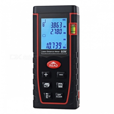 "60m 1.8"" LCD Laser Distance Meter Range Finder - Black + Red"