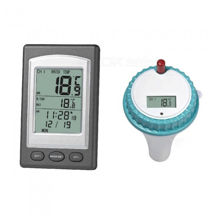Wireless Waterproof Thermometer In Swimming Pool Spa Hot Tub - White