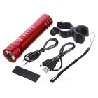 PINDO PD P-S2 Bicycle 5-Mode Flashlight & Mini Speaker w/ TF - Red
