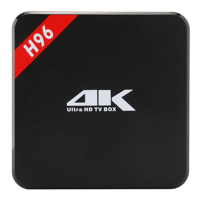 H96 Quad-Core Android 5.1 1080P 4K TV Box Player  - Black ( EU Plug)