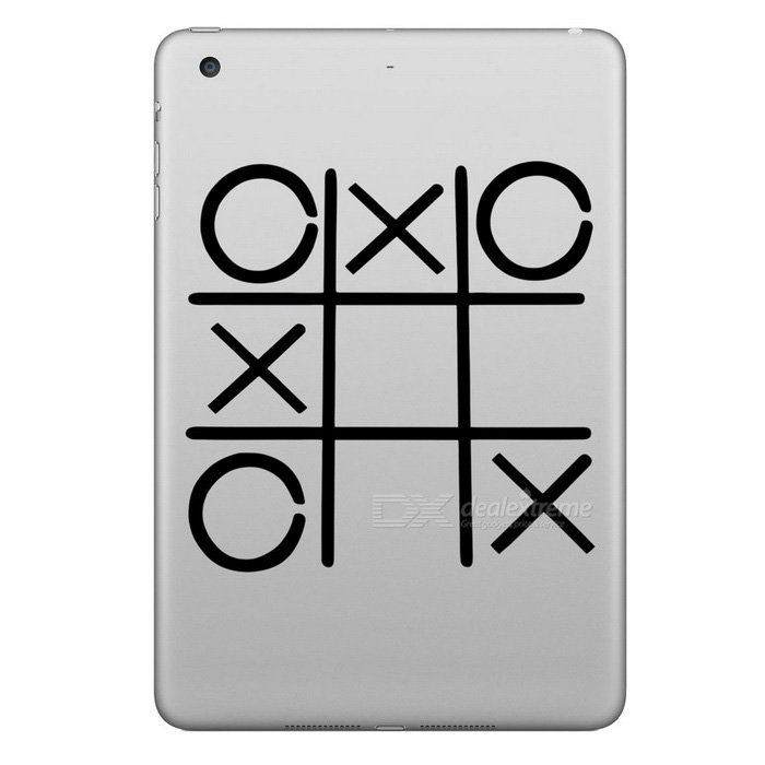Buy Hat-Prince Tic-tac-toe Pattern Removable Sticker for IPAD - Black with Litecoins with Free Shipping on Gipsybee.com