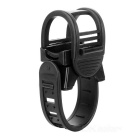 Bicycle Lamp Silicone Clip Flashlight Holder - Black