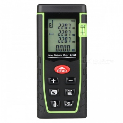 "40m 1.8"" LCD Laser Distance Meter Range Finder - Black + Green"