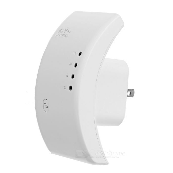 300Mbps Wi-Fi AP / Repeater with WPS Function - White (US Plugs)