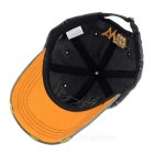 Fasjonable Unisex W baseballcap Vintage Hat - Sort + Orange