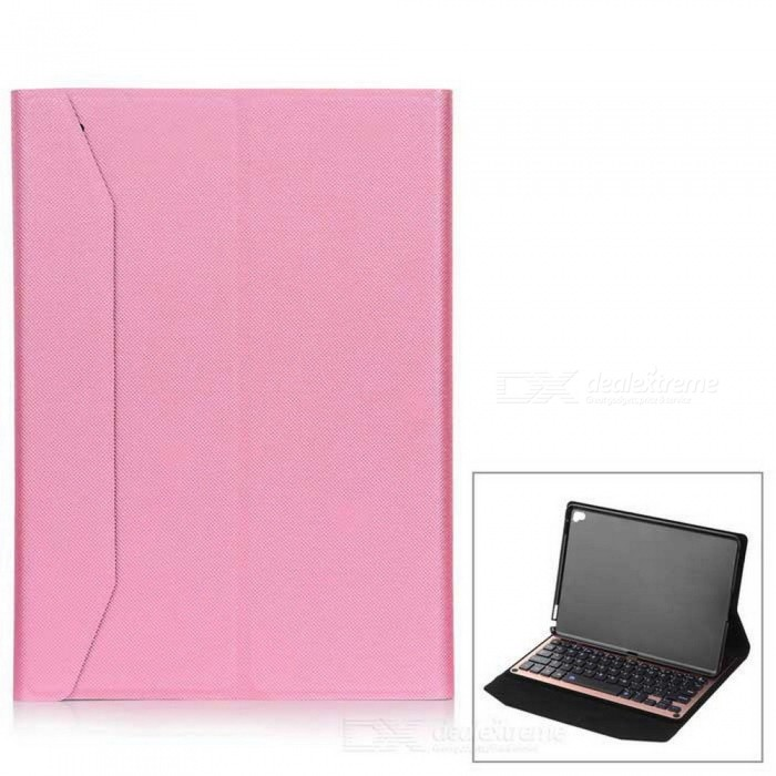Bluetooth V3.0 Keyboard Case w/ 64 Keys for IPAD PRO 9.7 - PinkIpad Keyboards<br>Form  ColorPinkQuantity1 DX.PCM.Model.AttributeModel.UnitMaterialAluminum Alloy + PU LeatherShade Of ColorPinkCompatible ModelsOthers,IPAD ProSupports SystemiOSConnectionBluetoothBluetooth VersionBluetooth V3.0Keys64Operating Range10 DX.PCM.Model.AttributeModel.UnitPowered ByBuilt-in BatteryBuilt-in Battery Capacity 350 DX.PCM.Model.AttributeModel.UnitStandby Time100 DX.PCM.Model.AttributeModel.UnitCharging Time2~3 DX.PCM.Model.AttributeModel.UnitWorking Time150 DX.PCM.Model.AttributeModel.UnitOther FeaturesOperating voltage: 3.0 ~ 4.2V <br>Working current:  200mAPacking List1 * Keyboard case1 * USB cable (71cm±2cm)1 * Chinese English user manual<br>