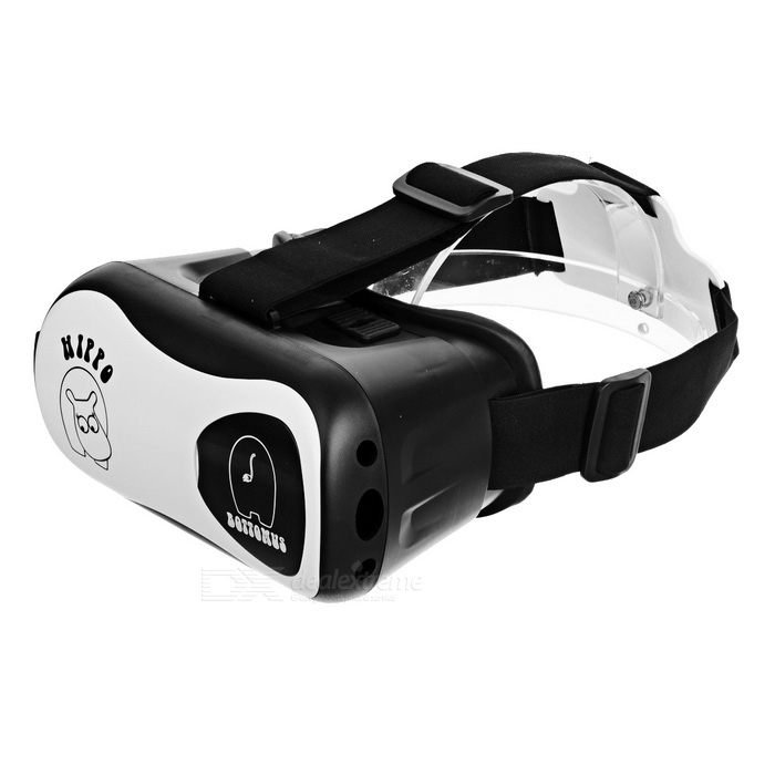 Virtual Reality 3D Glasses for 4.7 ~ 6.1 Phone - Black + White3D Glasses<br>Form  ColorBlack + WhiteMaterialABSQuantity1 DX.PCM.Model.AttributeModel.UnitShade Of ColorBlackTypePolarizedPowered ByPower FreeBattery LifeN/A DX.PCM.Model.AttributeModel.UnitPacking List1 * 3D Glasses1 * Wet cloth1 * Cleaning cloth1 * Silicone sticker<br>