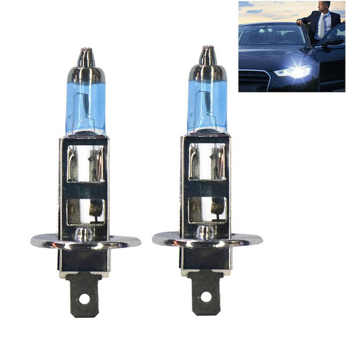 H1 100W 2300lm Neutral White Car Headlights (12V / 2PCS)