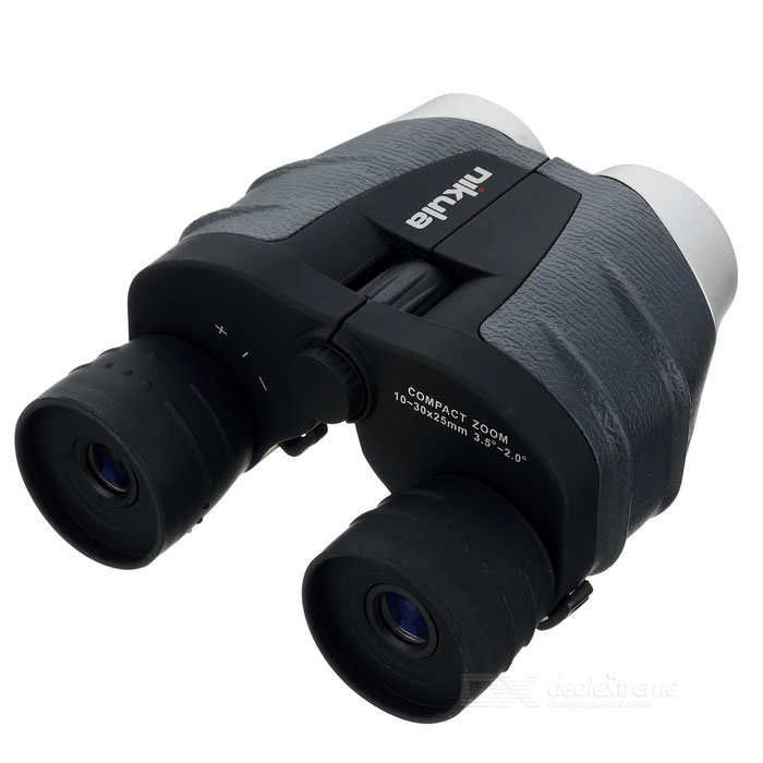 NIKULA 10~30X 25mm High Definition Binocular - Grey + Black