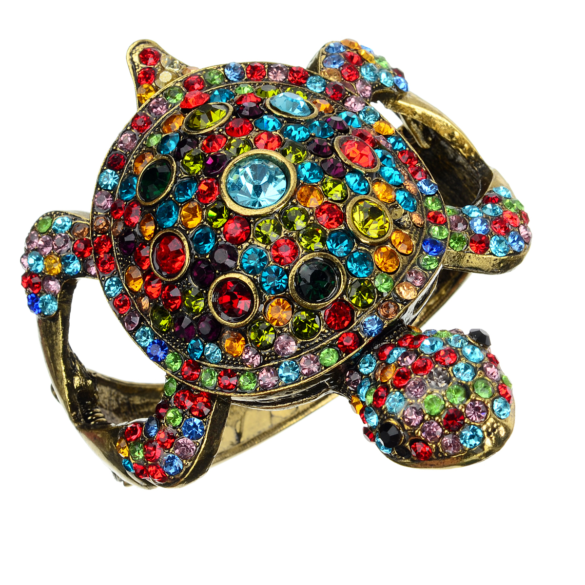 Kamínky Hustě Tortoise Modelling Bangle - Bronze + Multi-Color