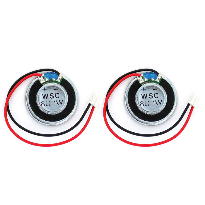 8ohm 1W 28mm Speaker with Outer Magnet / XH2.54 Cable - Black (2PCS)