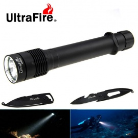 Ultrafire XM-L2 5-Mode Cold White Diving Flashlight w/ Keychain Knife