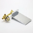 LSW01 Personalized Wall Mounted Brass LED Bathroom Faucet - Silver