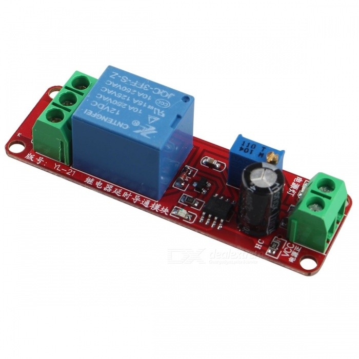 Buy DC 12V Delay Relay Shield NE555 Timer Switch Adjustable Module 0~10S with Litecoins with Free Shipping on Gipsybee.com