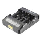 VP4 VA LED Display 4-Slot Li-ion-batteri Smart Charger (US Plugger)