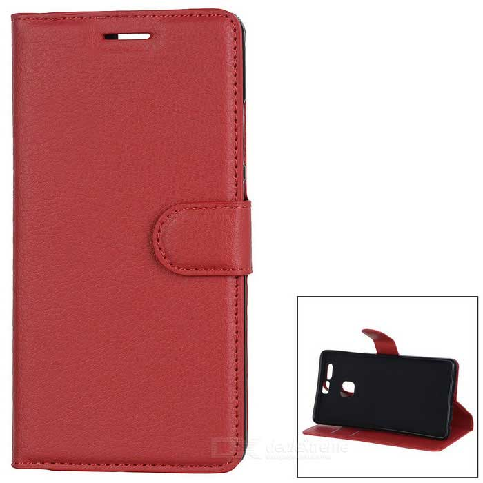 Lychee Pattern Protective PU Case for Huawei P9 - Watermelon RedLeather Cases<br>Form  ColorWatermelon RedModelN/AMaterialPUQuantity1 DX.PCM.Model.AttributeModel.UnitShade Of ColorRedCompatible ModelsHuawei P9FeaturesAnti-slip,Shock-proof,Abrasion resistance,Easy-to-remove,Holder functionPacking List1 * Case<br>