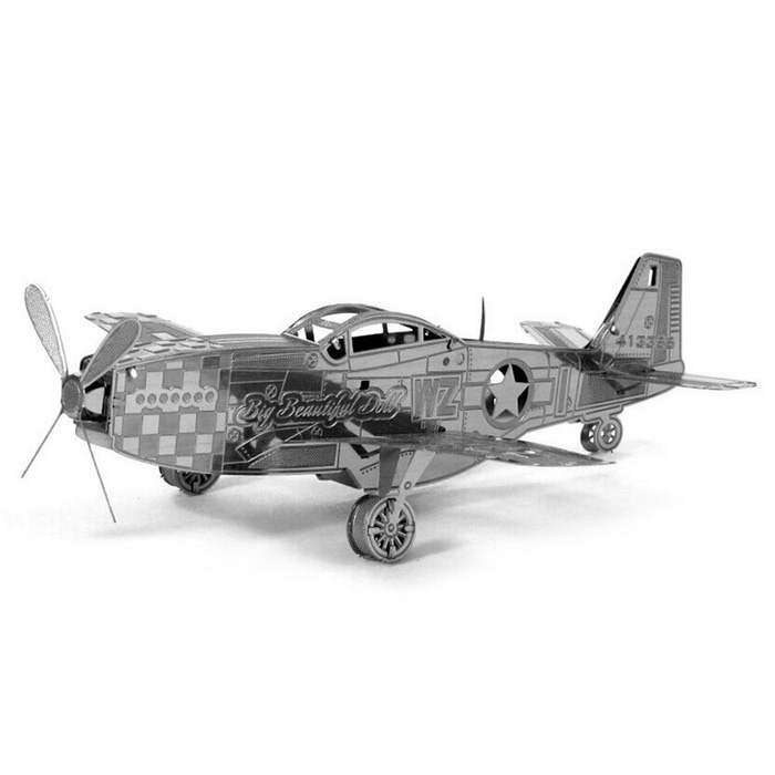 Fighter Style Three Dimensional Metal Puzzle Toy - Antique SilverEducational Toys<br>Form  ColorAntique SilveryMaterialMetalQuantity1 DX.PCM.Model.AttributeModel.UnitSuitable Age 3-4 years,5-7 years,8-11 years,12-15 years,Grown upsPacking List1 * Toy<br>
