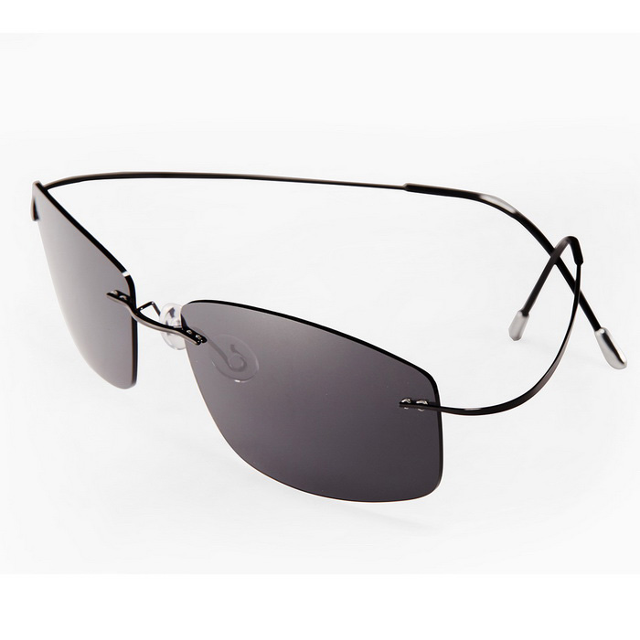 2dad3f93479 Reedoon rd0078 Pure Titanium Polarized Sunglasses - Black + Grey ...