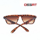OSSAT UV Protection Hiking Sports Glasses - Yellow + Agate Red
