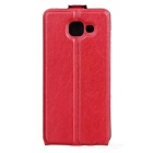 Up-Down Flip Open Protective PU Case for Samsung A510 - Red