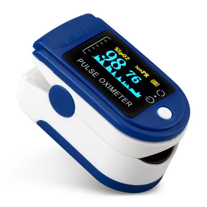 jzk-301 OLED Finger Pulse Oximeter Heart Rate Monitor - BlueHeart Rate Monitor<br>Form  ColorBlueModeljzk-301Shade Of ColorBlueMaterialPlasticQuantity1 DX.PCM.Model.AttributeModel.UnitDisplayOLEDTarget PositionFingerBattery Number2Power SupplyAAABattery included or notNoPower AdapterWithout Power AdapterPacking List1 * Fingertip Oximeter (without battery)1 * Lanyard1 * English user manual1 * Retail box<br>