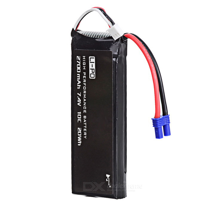 Buy H501S-14 2700mAh Battery for Hubsan H501S - Black with Litecoins with Free Shipping on Gipsybee.com