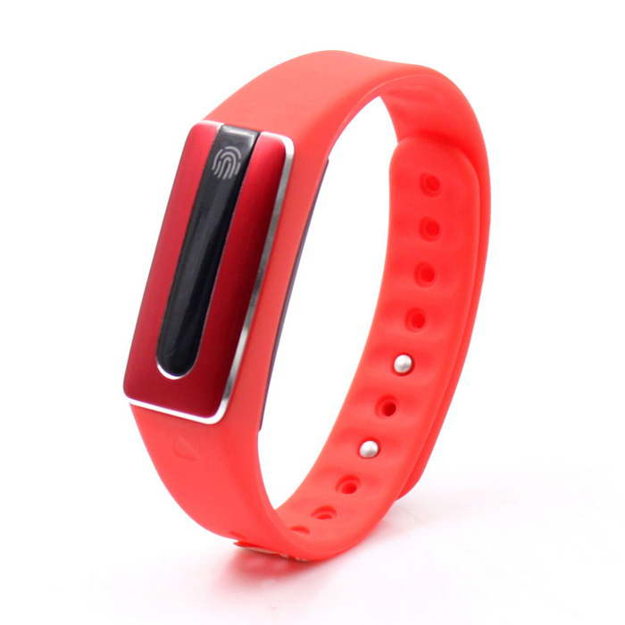 HR02 Touchable Multifunctional Bluetooth Smart Watch - Red