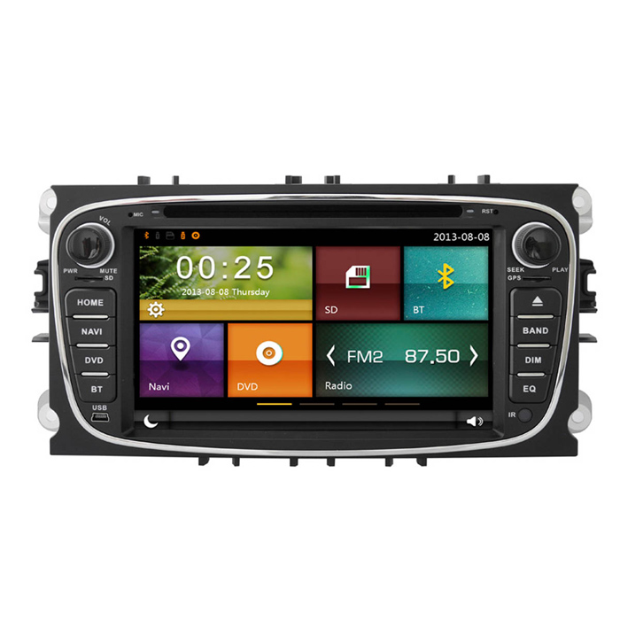 Cartouch(R) 7 Car DVD Player / GPS w/ Radio, iPod, USB - Black + GreyCar DVD Players<br>Form  ColorBlack GreyModelCT-6201Quantity1 DX.PCM.Model.AttributeModel.UnitMaterialMetal + plasticStyleSpecial In-DashFunctionBuilt-in speaker,GPS,Radio,iPod playing,Remote Control,Steering Wheel ControlCompatible MakeFordCompatible Car ModelMondeo2007-2010   <br>Tourneo Connect (2010)  <br>Transit Connect (2010) <br>S-max2008-2010Compatible Year2007,2008,2009,2010Screen Size7.0 inchesScreen Resolution800*480Touch Screen TypeYesDetachable PanelNoBrightness ControlYesMenu LanguageEnglish,French,German,Italian,Spanish,Portuguese,Russian,Polish,Thai,Malay,Chinese Simplified,Chinese TraditionalCPU Processor700Support MapIGO,Route66,TOMTOM,Sygic,CarelandStore Capacity256 DX.PCM.Model.AttributeModel.UnitMemory Card SlotStandard SD CardVoice Guidance CruiseNoGPS Dual ZoneNoOperating SystemWin CE 6.0Audio FormatsMP3,WMA,APE,FLACVideo FormatsRM,RMVB,AVI,MKV,MOV,FLVPicture FormatsJPEG,BMP,PNG,GIFStation Preset Qty.18Support RDSNoRadio Response BandwidthAM: 520KHz-1700KHz,FM: 87MHz-110MHzRDSYesRadio TunerFMBuilt-in MicrophoneYesBluetooth FunctionReceived Call,Dialled Call,Missed CallBluetooth VersionBluetooth V2.0TV Signal TypeAnalog TV tunerVideo OutputPAL,NTSCAmplifier Peak Power4*45 DX.PCM.Model.AttributeModel.UnitAudio ModeNatural,Rock,Jazz,Classical,Live,Dancing,PopularAudio Input1 channelAudio  Output2 ChannelsRearview Camera InputYesExternal Memory Max. Support32 DX.PCM.Model.AttributeModel.UnitVideo Input1 channelVideo Output2 channelsWorking Voltage   12 DX.PCM.Model.AttributeModel.UnitWorking Temperature-35-45 DX.PCM.Model.AttributeModel.UnitStorage Temperature20CPacking List1 * DVD player1 * Remote control (with a battery)1 * Power cable (25cm)1 * RCA cable (20cm)1 * Microphone (300cm)1 * GPS antenna (300cm)1 * Radio antenna  (20cm)1 * USB transfer cable (20cm)1 * USB transfer cable (15cm)1 * English user manual<br>