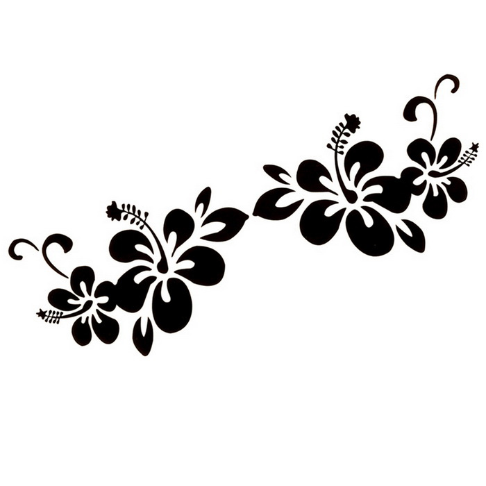 ZIQIAO Plant Flowers Pattern Car Bumper Stickers