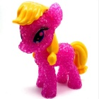 Cartoon Pony Syle Crystal LED Lights Toy for Children - Red + Yellow