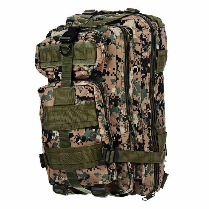 Buy CTSmart BL008 Outdoor Sports Oxford Backpack - Digital Camouflage with Litecoins with Free Shipping on Gipsybee.com