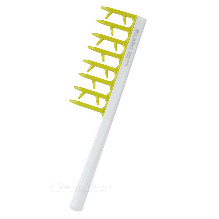 Loose Hair Modelling Comb - White + Green