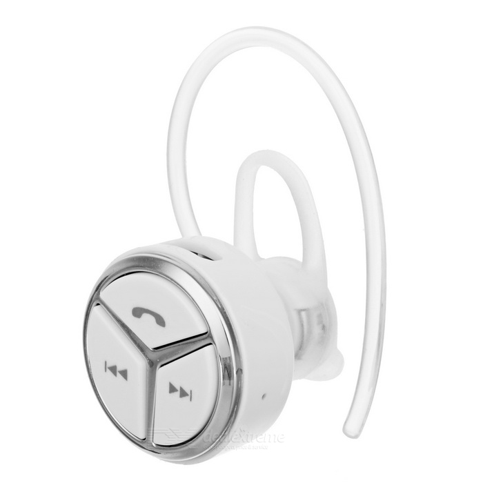 DseKai Q5 Mini In-Ear Single Bluetooth Earphone - White + SilverHeadphones<br>Form  ColorWhite + SilverModelQ5MaterialABSQuantity1 DX.PCM.Model.AttributeModel.UnitShade Of ColorWhiteEar CouplingOthers,In-earBluetooth VersionBluetooth V4.0Operating Range10mRadio TunerNoMicrophoneYesSupports MusicYesConnects Two Phones SimultaneouslyNoApplicable ProductsUniversalBuilt-in Battery Capacity 60 DX.PCM.Model.AttributeModel.UnitBattery TypeLi-polymer batteryTalk Time4~5 DX.PCM.Model.AttributeModel.UnitMusic Play Time4hrs DX.PCM.Model.AttributeModel.UnitStandby Time180 DX.PCM.Model.AttributeModel.UnitPower AdapterUSBBrandDseKaiConnectionBluetoothHeadphone StyleUnilateral,In-Ear,Ear-hook,BluetoothWaterproof LevelIPX0 (Not Protected)Headphone FeaturesEnglish Voice Prompts,Phone Control,Volume Control,With Microphone,Lightweight,Portable,Invisible Style,For Sports &amp; ExerciseSupport Memory CardNoSupport Apt-XNoPacking List1 * Bluetooth earphone1 * USB charging cable (49+/-2cm)1 * Hook1 * Chinese / English user manual<br>