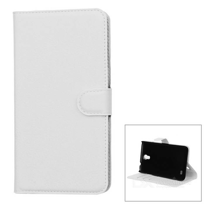 Litchi Grain PU Case w/ Stand for Samsung Galaxy Mega 2 G7508Q - WhiteLeather Cases<br>Form  ColorWhiteModel001MaterialPUQuantity1 DX.PCM.Model.AttributeModel.UnitShade Of ColorWhiteCompatible ModelsSamsung Galaxy Mega 2 G7508QFeaturesAnti-slip,Shock-proof,Easy-to-remove,Holder functionPacking List1 * Case<br>