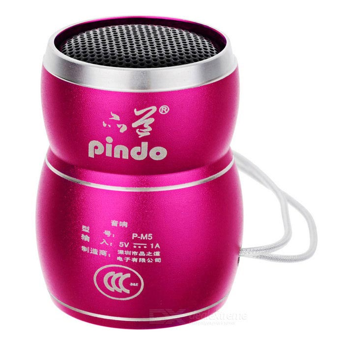 PINDO M5 Children's Mini Speaker w/ TF Card Slot - Dark Pink