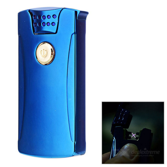 Rechargeable Double Electric Arc Pulse USB Cigarette Lighter - BlueOther Lighters<br>Form  ColorBlueMaterialStainless steelQuantity1 DX.PCM.Model.AttributeModel.UnitShade Of ColorBlueTypeUSBFlame ColorPurpleWindproofYesFuelButanePower SupplyBuilt-inCharging Time0.5~1 DX.PCM.Model.AttributeModel.UnitOther FeaturesBuilt-in 350mAh batteryPacking List1 * Lighter1 * USB cable (20cm)<br>