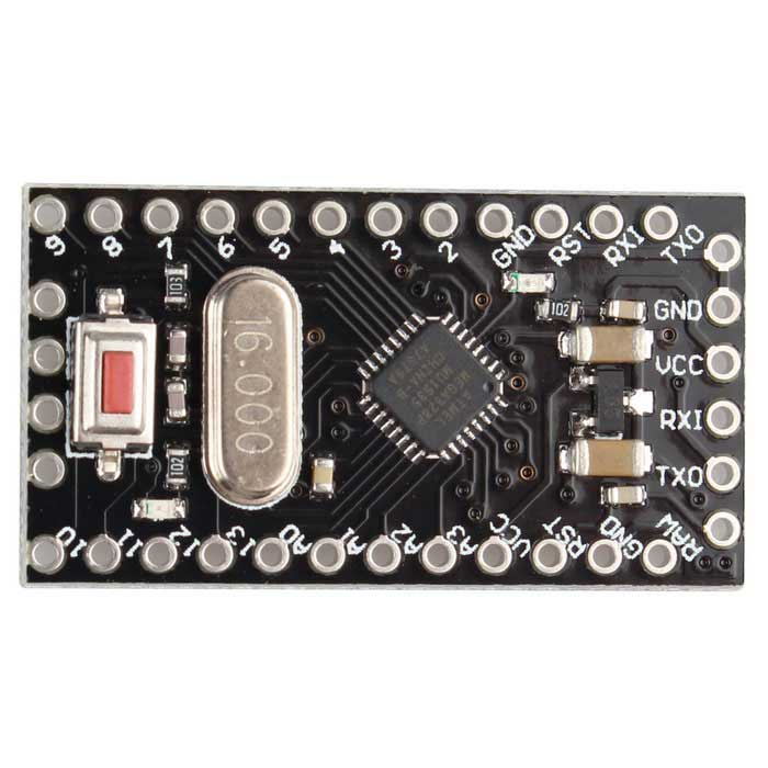 Pro Mini Upgraded Version 5V 16MHz ATMEGA328P Module - Black