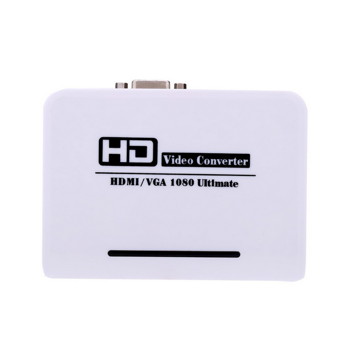 Adaptér HDMI VGA Audio HD HDTV Video / Audio Converter - bílý