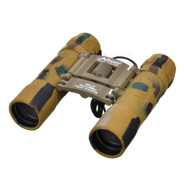 Arboro Portable 10X 25mm Binoculars - Sand CamouflageBinoculars And Telescopes<br>Form  ColorDesert CamouflageQuantity1 DX.PCM.Model.AttributeModel.UnitMaterialAluminum alloy + rubberBest UseClimbing,Rock Climbing,Family &amp; car camping,Backpacking,Camping,Mountaineering,Travel,CyclingFeatureBird watching binocular,Show watching telescope,Landscape watching telescopeMagnification10XObjective Diameter25mmWeather resistantNoFogproofNoExit Pupil Diameter2cmEye Relief1cmFocus SystemCenterPacking List1 * Binoculars1 * Black cloth pouch1 * Lens cleaning cloth1 * Lanyard<br>