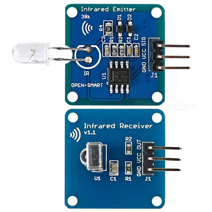 Infrared Transmitter IR Receiver Module w/ 38K Carrier for Arduino